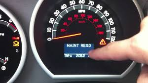2011 toyota tundra maintanence light reset youtube