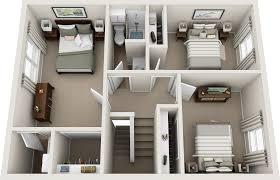 three bedroom floor plans northfield lodge apartments