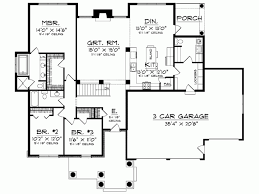 Three Bedroom Ranch Floor Plans Eplans Ranch House Plan Dignified Three Bedroom Home 1904
