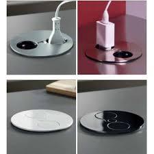 prise de courant plan de travail cuisine bloc prise électrique gemmo système twist à encastrer sur votre plan