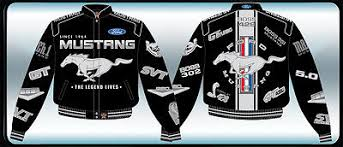 ford mustang jacket ford mustang jacket black twill collage embroidered logos mustang