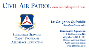Avery 5871 Business Cards Business Card Templates Civil Air Patrol