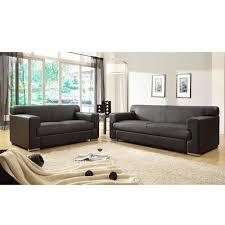 canapé 2 et 3 places cubo ensemble de canapés fixes croûte de cuir et simili 3 2 places