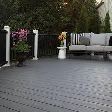 deck rail planters lowes shop trex enhance clam shell ultra low maintenance ulm composite
