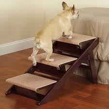 amazon com pet studio pine frame dog rampsteps 3 step pet