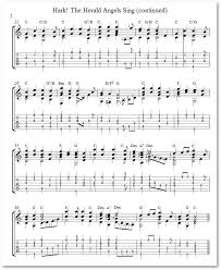 lick of the day christmas carols for solo guitar hark the
