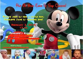 Mickey Mouse 1st Birthday Card Mickey Mouse Clubhouse 1st Birthday Invitations Mickey Mouse