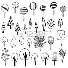 set of flower sketch vector free hand drawing doodle sketch on