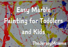 the jersey momma crafts for toddlers and kids easy marble painting
