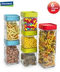 glass kitchen canister set oggi 4 square glass canister set with stainless