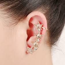 earring cuffs the new ear cuff clip on earrings one exaggerated