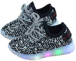boys size 3 light up shoes znu led light up kids child boys girls trainers knitted sneakers