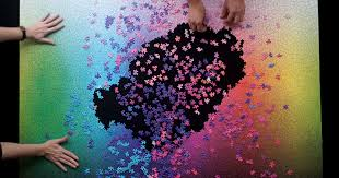color spectrum puzzle this puzzle has all colors in cmyk spectrum bored panda