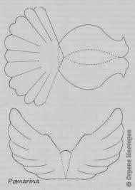 molde de pomba voando moldes pinterest diy paper craft and