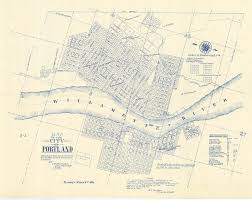 Portland Oregon County Map by Map Vintage Portland