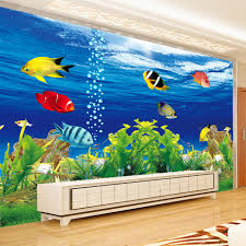 online get cheap ocean heat aliexpress com alibaba group custom photo wallpaper 3d stereoscopic ocean aquarium sofa tv background wall decorations living room modern mural wall paper