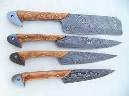 Japanese Folded Steel Kitchen Knives Custom Made Damascus Steel Kitchen Knives Set Buy Complete
