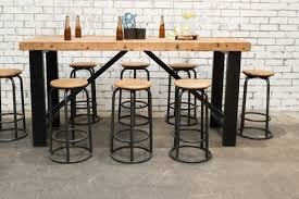 Outdoor Bar Table And Stools Industrial Bar Table Set F031 Set8 Stone Pony