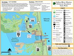 State Park Map by Delaware Seashore State Park Maplets