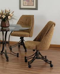 swivel dining chairs with casters uk casual chair room caster