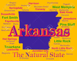 Arkansas State Map With Cities by Colorful Arkansas State Pride Image Including Map Silhouette