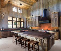 Rustic Kitchen Designs by Modern Rustic Barn Style Retreat In Texas Hill Country Texas