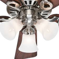 44 ceiling fan with remote hunter 44 inch brushed nickel finish ceiling fan with remote