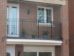 Balcony Design by Curved Balcony Railing For Half Oval Balcony Design With Red Brick
