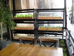 Restaurant Patio Planters by New Restaurant Garden In Downtown La Gardenerd