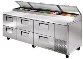 Stainless Steel Prep Table With Drawers True Tpp 93d 6 Pizza Prep Table 6 Drawer 19 5