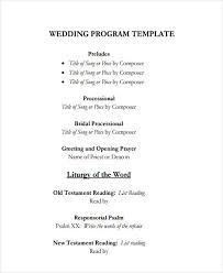 wedding program outline template 20 exles of event programs