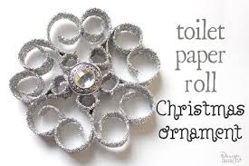ornaments made from recycled toilet paper rolls hometalk