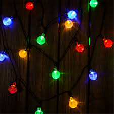 Multi Colored Solar Garden Lights by Annt Annt Solar Outdoor String Lights 20ft 30 Led Warm White