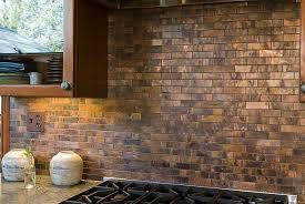 Copper Backsplash Kitchen Kitchens Kitchen Design With Golden Tiles Copper Backsplash And