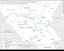 Map Of Uganda From Conflict To Cooperation Sudan South Sudan And Uganda