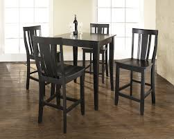 modern dining room design with 5 piece dark brown modern pub table