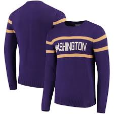 purple sweater s purple washington huskies vintage stadium knit sweater