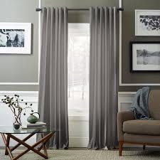 velvet pole pocket curtain dove gray west elm