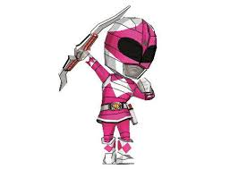 rangers chibi pink ranger free papercraft download