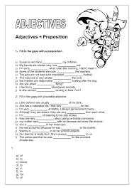 preposition intermediate worksheet