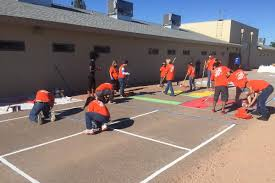 playworks arizona partners with home depot to beautify eliseo c