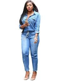 Jeans Jumpsuit For Womens Cheap Jumpsuits Strapless Fashion Jumpsuits Plus Size For Women