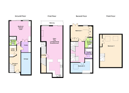 bed terraced house for sale in richmond road e11 floor plan