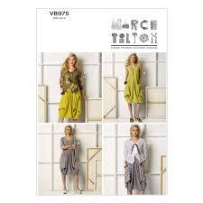 dress pattern john lewis vogue marcy tilton women s dress and jacket sewing pattern 8975 at