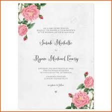 wedding invitations format sle wedding invitations resume name