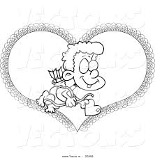 100 cupid coloring page cartoon clipart of a black and white