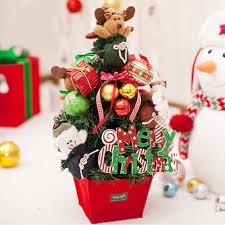 small christmas mini desktop christmas tree decoration with mini