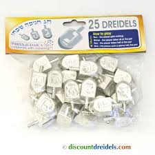 where to buy dreidels set of 25 medium silver plastic dreidels