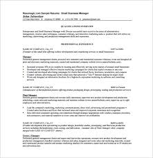 Marketing Manager Resume Sample Pdf by Business Resume Template U2013 11 Free Word Excel Pdf Format