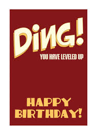 ding birthday level up card monkey minion press